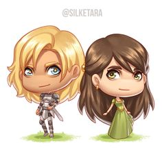Aedion and Lysandra. Art by Silketara. All credit to her.