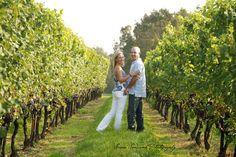 engagement photo in vineyard
