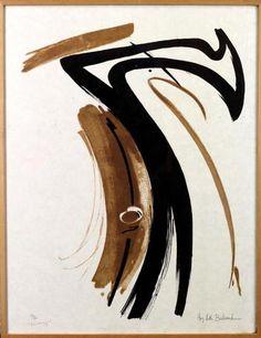 ARTHUR BERTRAND Huguette (1922-2005) : Composition, 1955, lithographie