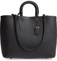 Main Image - COACH 1941 Rogue Embellished Handle Leather Tote