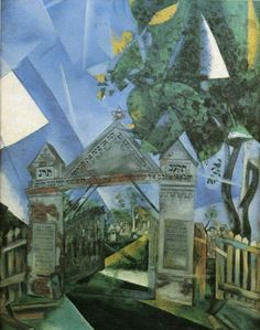 """Marc Chagall, """"Cemetery Gates,"""" 1917    Can you see the light?"""