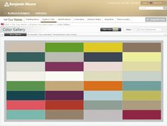 Young House Love's favorite paint colors from Benjamin Moore.  Must return to this when we're looking to paint our new house.