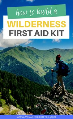 How to build your own Wilderness First Aid Kit If you spend any great amount of time outdoors you should know to carry a first aid kit. Learn how to build your own Wilderness first aid kit. Solo Travel Quotes, Travel Advice, Travel Tours, Travel Guides, Travel Destinations, Travel Hacks, Travel Packing, Amazing Destinations, Holiday Destinations