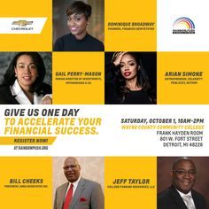 Some superstar financial experts are coming to Detroit October 1st for theRainbow PUSH Money Matters Eventsponsored by Chevrolet! That's right, they have teamed up again to host a series of events across the nation to empower communities in developing concrete steps toward financial security.Ready toget FREEhelp, tools and resourcesthat will help support stronger financial [...]