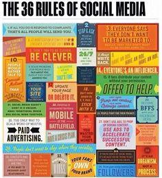 36 reglas del mercadeo en las #redessociales  #SMM #socialmedia