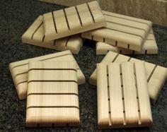White Ash Hardwood Soap Holders, Handmade Soap Dish, Wooden Soap Dishes