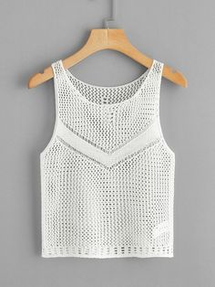 Crochet Sheer Tank Top [swvest04190307422] - $16.00 : cuteshopp.com