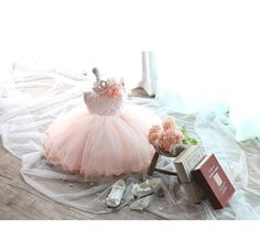Pinky baby dress TuTu dress Infant Baby Toddlers by PLdress, $88.00