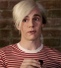 """gabbiesworld: """"Evan Peters as Andy Warhol """""""
