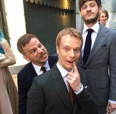 Game of Thrones: Tom Wlaschiha, Alfie Allen and Iwan Rheon at the Game of Thrones 2016 season 6 premiere in LA. (photo via Tom's Instagram)