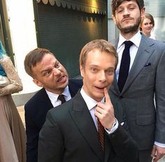 Game of Thrones: Tom Wlaschiha, Alfie Allen and Iwan Rheon at the Game of Thrones 2016 season 6 premiere in LA. (photo via Tom's Instagram)