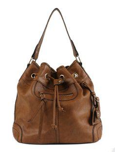 Amazon.com: Scarleton Large Drawstring Handbag H107804 - Brown: Shoes