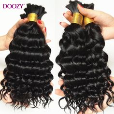 Doozy 8A deep curly braiding human hair bulk 3pcs lot bulk hair for braiding no attachment deep wave brazilian virgin hair - http://jadeshair.com/doozy-8a-deep-curly-braiding-human-hair-bulk-3pcs-lot-bulk-hair-for-braiding-no-attachment-deep-wave-brazilian-virgin-hair/  Bulk Hair