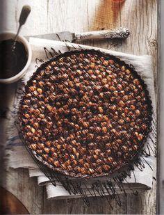 ... chocolate hazelnut tart ...