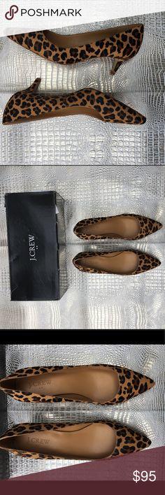 NEVER WORN JCREW ANIMAL PRINT WITH KITTEN HEELS Fun animal print combined with functional kitten heels! J. Crew Shoes Heels