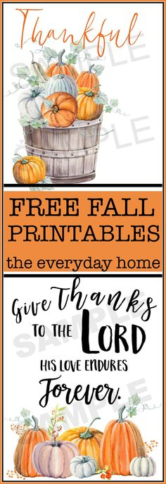The Everyday Home and Barb Garrett shares some of her favorite and Free Fall Printables for you to use in your home and in your Fall decor. Fun Diy Crafts, Fall Crafts, Rustic Crafts, Holiday Crafts, Free Christmas Printables, Free Printables, Do It Yourself Crafts, Fall Diy, Fall Harvest