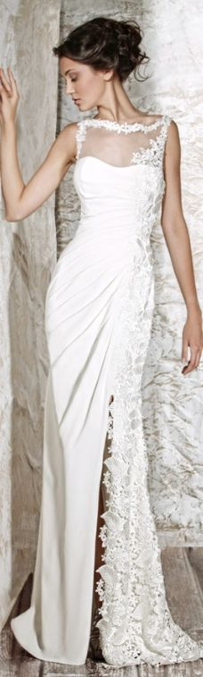 Tony Ward- I love the idea of the embroidery on the netting at the top