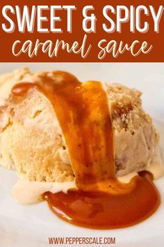 This Sweet and Spicy Caramel Sauce is a great twist on the caramel sauce we know and love. Ice cream is of course the most obvious use case for this sauce, but it's not the only one. It makes an excellent filling for the middle of a layer cake. #caramelsauce #spicedsaltedcaramelsauce #desserts Salted Caramel Sauce, Apple Slices, Dessert Recipes, Desserts, Spicy Recipes, Stuffed Hot Peppers, Sweet And Spicy, Hot Sauce, Spices