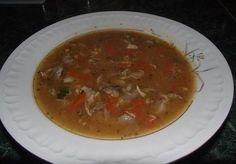 Zupa a la flaczki z żołądków drobiowych