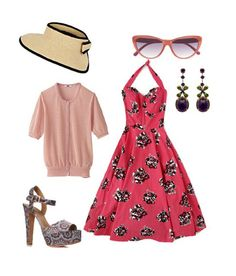 Beautiful outfit for summer garden party.