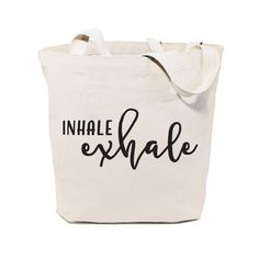 Cotton Canvas Inhale and Exhale Tote Bag – The Cotton and Canvas Co.