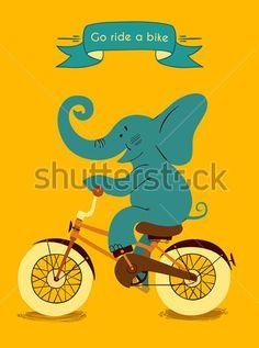 ELEPHANT ON CYCLE