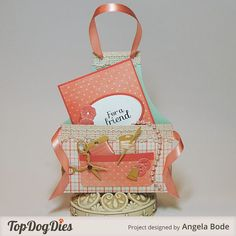 Easy apron card tutorial with Top Dog Dies Apron (A2) Card.