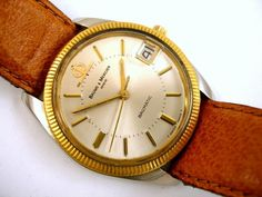 """Currently at the #Catawiki auctions: Baume & Mercier - Baumatic - """"NO RESERVE PRICE"""" - Men - 1980-1989 Baume Mercier, Steel Material, Stainless Steel Case, Cool Watches, Auction, Leather, Men, Cool Clocks, Guys"""