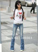 La moda de nueva Ladies ' vaqueros de corte para botas, Popular Casual Casual Jeans mujer pantalones. envío QQ8073(China)