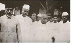 1930s :: Maulana Azad,Sardar Patel, Subhash chandra  Bose in Wardha (Maharashtra )