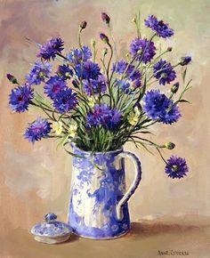 Anne Cotterill (British, 1933-2010). Цветочные натюрморты. Обсуждение на LiveInternet - Российский Сервис Онлайн-Дневников