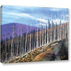 ArtWall Gene Foust Firstsight Gallery-Wrapped Canvas Art, Size: 36 x 48, Brown