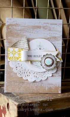 Vintage Verses, You Rule Stampin Up!  www.stampinbythesea.com  Kimberly Van Diepen Sampin' Up!