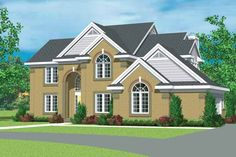 New American House Plan with 2518 Square Feet and 4 Bedrooms from Dream Home Source | House Plan Code DHSW45618