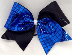 Cheer Bow - Blue and Sequin by FullBidBows on Etsy https://www.etsy.com/listing/130085564/cheer-bow-blue-and-sequin