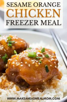 These easy make-ahead sesame orange chicken thighs are bursting with great citrus flavor and are so quick to make! Cook these babies in your slow cooker for nice, tender, juicy orange chicken that beats takeout! And this is a freezer friendly dump-style meal and couldn't be simpler to prepare! #freezerfriendly #freezer #freezermeal #easydinner #crockpot #slowcooker #orangechicken #chicken Chicken Freezer Meals, Best Freezer Meals, Easy Meals, Orange Chicken, Chicken Thighs, Crockpot, Pressure Cooker Recipes, Food Inspiration, Baked Potato