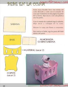pram, cot, crib, cradle templates,patterns