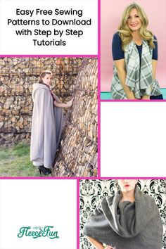 With over 180 FREE pdf sewing patterns, this site has everything from decor to aprons to shorts and beyond! a lot of the patterns include a step-by-step video to make it easy to follow. Great Sewing Projects. Love this! Skirt Pattern Free, Free Pattern, Fleece Projects, Sewing Projects, Sewing Patterns Free, Free Sewing, Drawstring Backpack Tutorial, Yoda Costume, Fleece Tie Blankets