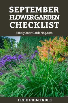 Are you doing what you need to do get flower garden ready for winter? Discover what you need to do this month. Download my free September garden checklist. It includes to-dos for your annual