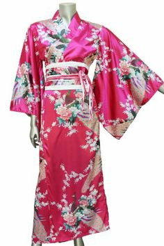 Long Yukata Japanese Kimono Women's Satin Silk Robe Gown Dress - One Size - Magenta ORIENTAL VILLAGE SILK COLLECTION,http://www.amazon.com/dp/B00CNZ1F7W/ref=cm_sw_r_pi_dp_Wohrtb1YASR6E7G8