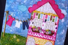 The Little Blue House: LBH Buffet Classes & Kits- Mixed Media Spring is in the Air House Canvas
