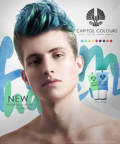mens coloured hair