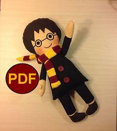 PDF doll pattern Harry Potter PDF Pattern by NatashaArtDolls