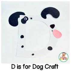 Kids will love transforming the letter D into a fun and happy dog with this D is for dog letter craft! This activity fits in with all alphabet crafts. Alphabet Letter Crafts, Abc Crafts, Preschool Crafts, Preschool Ideas, Kids Crafts, Alphabet Activities Kindergarten, Literacy, D Is For Dog, Alphabet For Toddlers