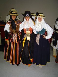 """Trajes de Magos"" - traditional Spanish clothing from the Canary Islands"