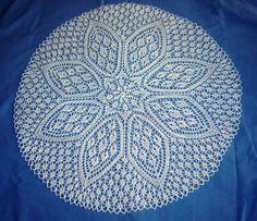 Petals doily knitting pattern.