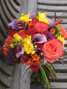 Image detail for -Fall Wedding At West Monitor Barn » orange, yellow, red and purple ...