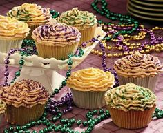 Mardi Gras & John Besh's King Cake Cupcakes - Places in the HomePlaces in the Home
