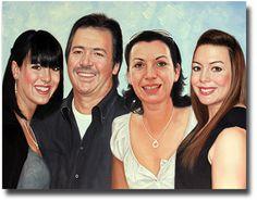 Familien Portraits Ihre Liebsten als echtes Ölgemälde von Ihrem Foto www.paintify.de
