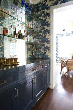 Los Feliz residence - www.taylorjacobsondesign.com Custom lacquered bar